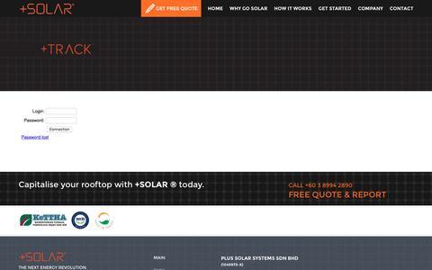 Screenshot of Login Page plus-solar.com.my - +SOLAR™ - captured Nov. 7, 2016