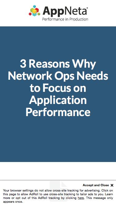 3 Reasons Network Ops Needs to Focus on App Performance