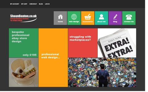 Screenshot of Testimonials Page shaunbanton.co.uk - ShaunBanton.co.uk - eCommerce Internet Services | Web Design | eBay Templates | Social Media - captured Oct. 26, 2014
