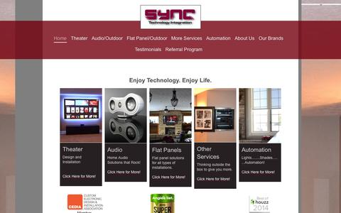 Screenshot of Home Page syncti.com - Welcome to SYNC Technology Integration - captured Oct. 3, 2014
