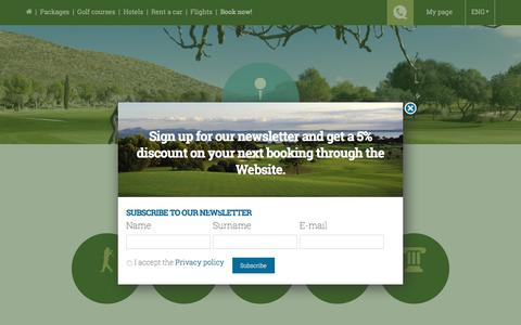 Screenshot of Services Page mallorcagolftours.com - Services - Mallorca Golf Tours - captured July 27, 2018