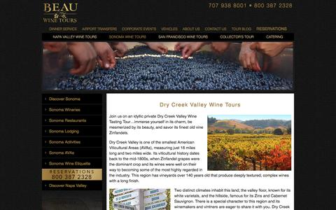 Dry Creek Valley Wine Tours - Private Wine Tasting - Limo Tour