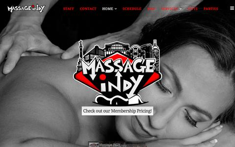 Screenshot of Home Page massageindy.com - Massage Therapy in Indianapolis Massage Therapists Fishers Indy - captured Aug. 9, 2016