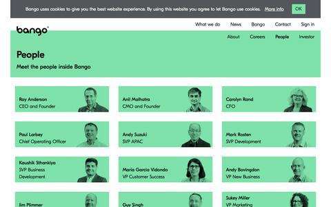 Screenshot of Team Page bango.com - Meet the people inside Bango | Bango - captured June 23, 2019