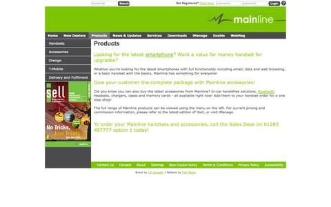 Screenshot of Products Page mainline.uk.com - Mainline - Products - captured Oct. 4, 2014