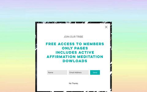 Screenshot of Blog heartconnection.com.au - Active Affirmations | Meditations | Heart Connection | SelfEmpowerment - captured Oct. 20, 2018