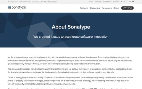 Screenshot of About Page sonatype.com - About | Sonatype - captured Sept. 20, 2017