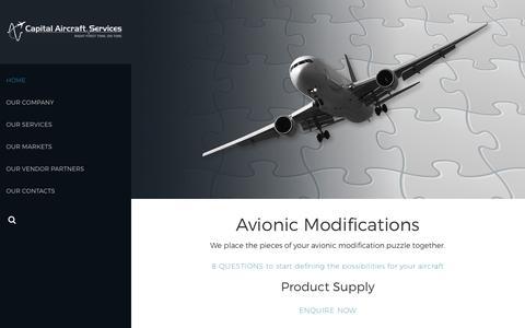 Screenshot of Home Page capair.com.au - HOME - Capital Aircraft Services - captured Sept. 26, 2018