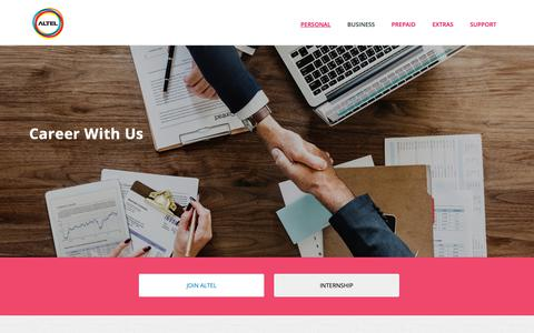 Screenshot of Jobs Page altel.my - Welcome to Altel Communications - captured Oct. 1, 2018