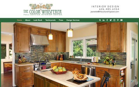 Screenshot of Home Page thecolorwhisperer.com - The Color Whisperer   Home Design that Inspires - captured Sept. 27, 2018
