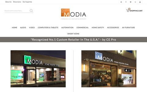 Screenshot of Locations Page modia.com - Locations - captured July 26, 2018