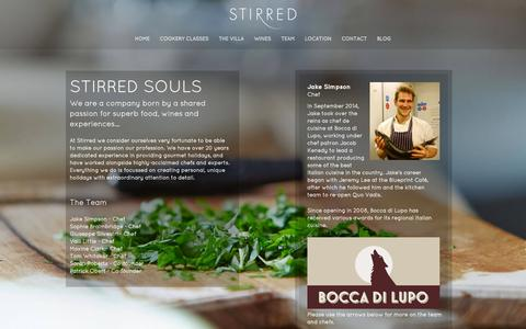 Screenshot of Team Page stirredtravel.com - Top Italian Chefs on Stirred Cooking Classes - captured Feb. 16, 2016