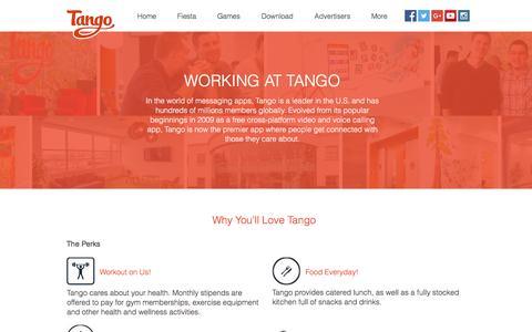 Screenshot of Jobs Page tango.me - Tango   Careers - captured Dec. 6, 2016