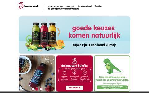 Screenshot of Home Page innocentdrinks.nl - innocent drinks - captured Jan. 14, 2018