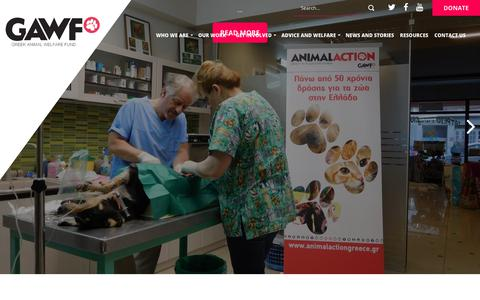 Screenshot of Home Page gawf.org.uk - Home » Greek Animal Welfare Fund - captured July 7, 2018