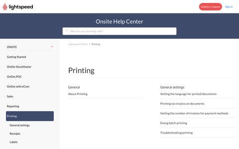 Printing – Lightspeed OnSite