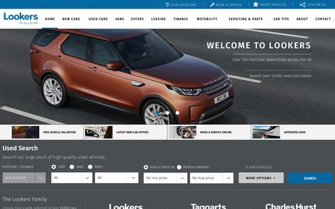Screenshot of Home Page lookers.co.uk - New and pre-owned cars for sale across the UK - Lookers - captured June 27, 2017