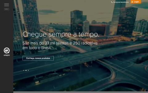 Screenshot of Home Page wappa.com.br - Wappa | Gestão de táxi corporativo. - captured Sept. 19, 2014