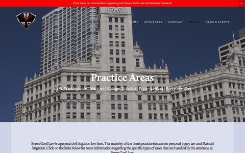 Screenshot of FAQ Page breengoril.com - FAQ — Breen Goril Law - captured Oct. 11, 2017