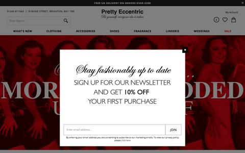 Screenshot of Home Page prettyeccentric.co.uk - Pretty Eccentric | Prom Dresses, Wedding Dresses, Bridesmaids Dresses | Vintage Style Clothing - captured July 21, 2018