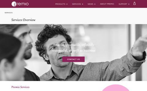Screenshot of Services Page premioinc.com - Services Overview – Premio Inc - captured Nov. 5, 2018