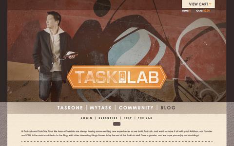 Screenshot of Blog thetasklab.com - Blog   Tasklab - captured Nov. 4, 2014