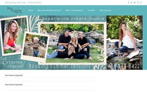 Screenshot of Contact Page markcetronephotography.com - Portraits Billings MT | Corporate Photography Billings MT | Baby Photography Billings MT | Outdoor Photography Billings MT - captured Sept. 27, 2018