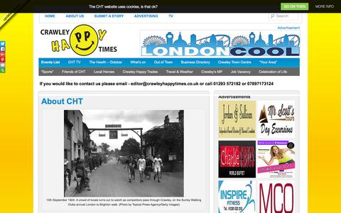 Screenshot of crawleyhappytimes.co.uk - About CHT | Crawley Happy Times Online - captured Oct. 3, 2015
