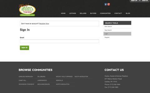 Screenshot of Login Page hhande.com - Sign In - captured Nov. 2, 2014