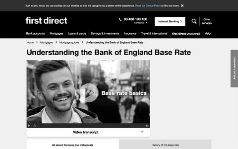 Screenshot of FAQ Page firstdirect.com - Bank of England Base Rate Changes and Their History | first direct - captured Oct. 13, 2017