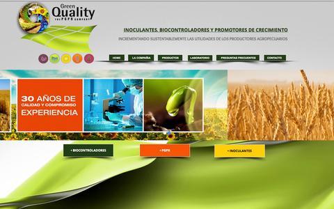 Screenshot of FAQ Page greenquality.com.ar - greenweb - captured Oct. 3, 2014