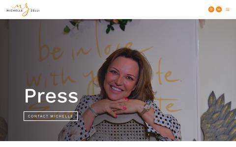 Screenshot of Press Page michellezelli.com - Press - Michelle Zelli - captured Oct. 18, 2018
