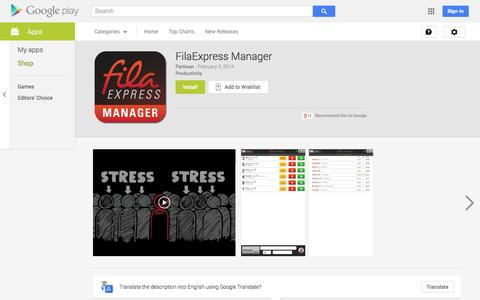 Screenshot of Android App Page google.com - FilaExpress Manager - Android Apps on Google Play - captured Oct. 22, 2014