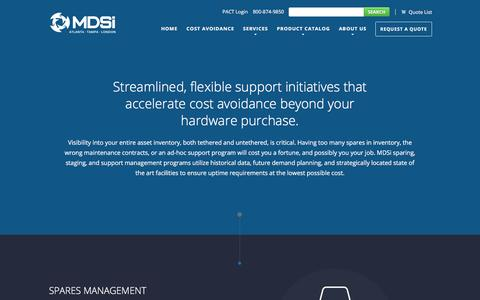Screenshot of Support Page mdsiinc.com - Support | MDSi | Optimize Your Infrastructure - captured Dec. 20, 2015
