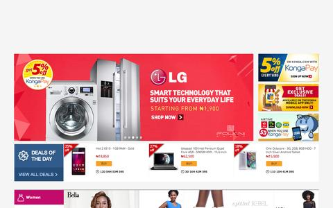Screenshot of Home Page konga.com - Online Shopping | Phones, Fashion, Electronics - captured Dec. 2, 2015