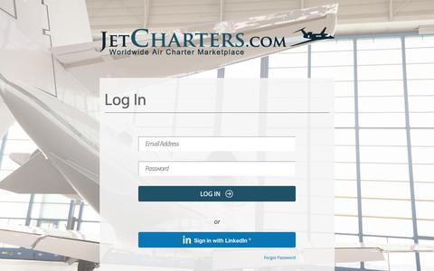 Screenshot of Login Page jetcharters.com - Jet Charter - Book Private Jet Charters and Air Charter Flights - captured June 24, 2017