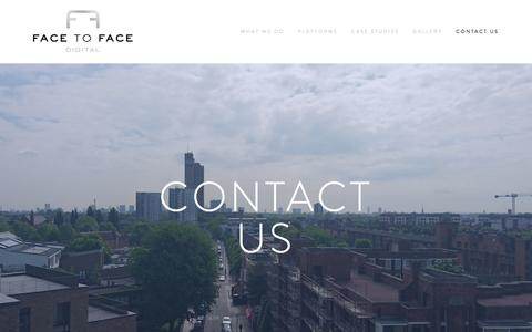 Screenshot of Contact Page facetofacedigital.com - Contact us — FACE TO FACE DIGITAL - captured Aug. 3, 2016