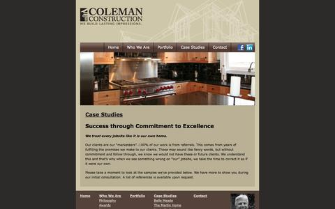 Screenshot of Case Studies Page nashvilleremodeling.com - Best Nashville Custom Home Builders: Kitchen Remodel | Custom Home Design Nashville TN - captured June 18, 2016