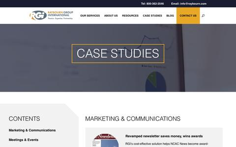 Screenshot of Case Studies Page raybourn.com - Case Studies – Raybourn Group International - captured Nov. 29, 2016