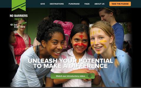 Screenshot of Home Page globalexplorers.org - Global Explorers - captured Sept. 30, 2014
