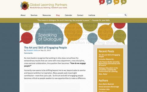 Screenshot of Blog globallearningpartners.com - Blog  Global Learning Partners - captured Oct. 2, 2014