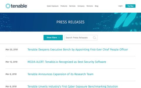 Press Releases | Tenable™