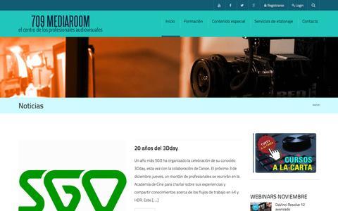 Screenshot of Home Page 709mediaroom.com - Noticias - 709 Media Room - captured Nov. 23, 2015