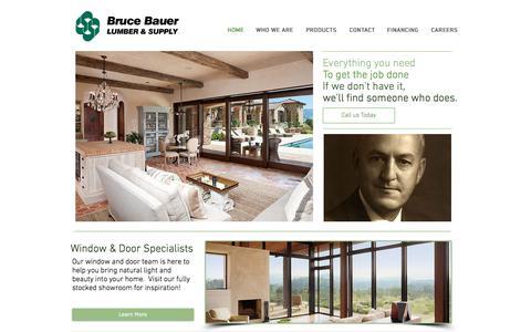 Screenshot of Home Page brucebauer.com - Brucebauer - captured Aug. 19, 2018