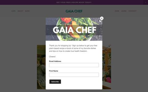 Screenshot of Press Page gaiachef.com - Media — Gaia Chef - captured Oct. 5, 2018