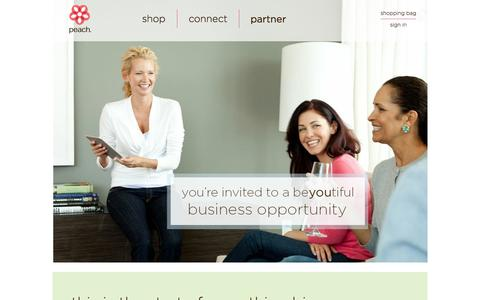 Screenshot of Signup Page peach.company - Peach - captured Oct. 22, 2014