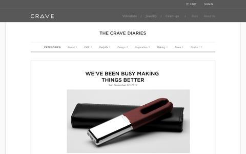 Screenshot of Blog lovecrave.com captured July 18, 2014