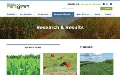 Screenshot of Case Studies Page midwesternbioag.com - Case Studies | Midwestern BioAg - captured Dec. 15, 2016