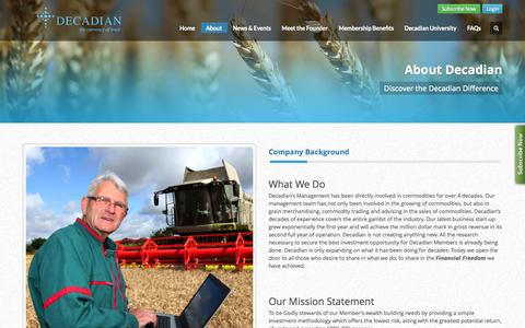 Screenshot of About Page decadian.com - Decadian         | About Decadian - captured Oct. 5, 2014