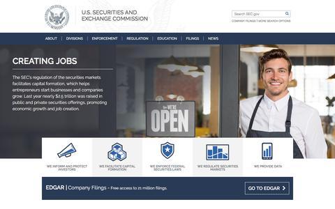 Screenshot of Home Page sec.gov - SEC.gov | HOME - captured Aug. 16, 2017